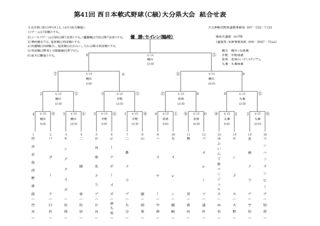 H31西日本C級県大会組合せ表のサムネイル