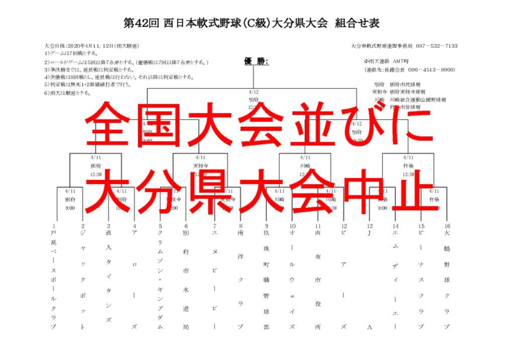 R2西日本C級県大会組合せ表のサムネイル