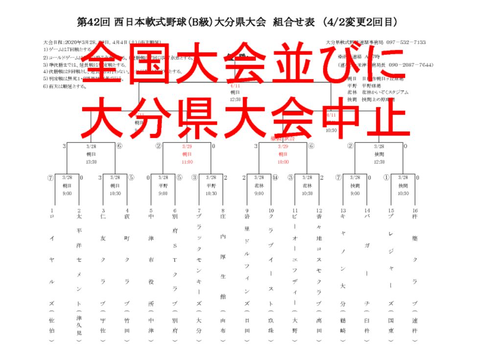R2西日本B級県大会組合せ表のサムネイル
